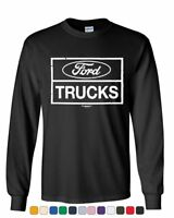 Distressed Ford Trucks Long Sleeve T-Shirt F150 American Pick Up Tee