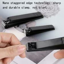 Steel Nail Clipper Professional Manicure Trimmer Black HOT N1I5