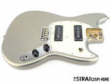 2017 Fender Mustang 90 LOADED BODY Guitar Parts Alder Offset Shape Silver