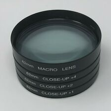 62mm Close up lens +1 +2 +4 Macro kit with case for Canon, Nikon, Sony, Olympus