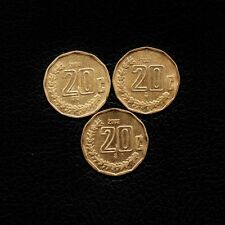 (3) 20 Centavos 2000-2001-2002   Mexico -Ship 50Cts Per item Added