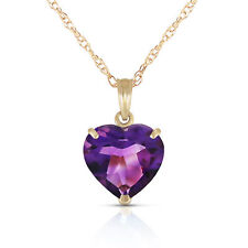 Amethyst Pendant Necklace in 14k Yellow Gold 18