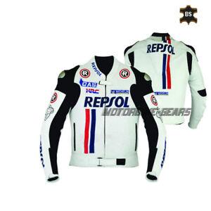 White motorbike riding jacket superbike repsol riding apparel motorcycle gears