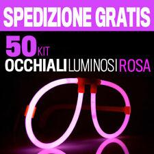 50 OCCHIALI LUMINOSI ROSA  braccialetti fluo bracciali starlight strobo 30132