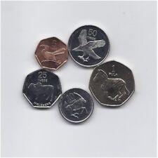 BOTSWANA 1998 - 2007 FIVE HIGH GRADE COINS ANIMALS FAUNA SET 5 THEBE TO 1 PULA