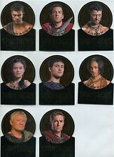 Spartacus Vengeance Complete Die Cut Gold Plaque Chase Card Set GV1-8