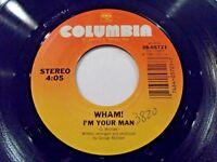 Wham I'm Your Man / Do It Right 45 1985 Columbia Vinyl Record
