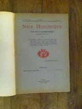 NICE HISTORIQUE - Année 1914 - Volume dixseptième - (année complète)