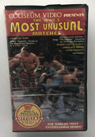 WWF The Most Unusual Matches VHS Coliseum Video Tape Wrestling WWE Vintage RARE