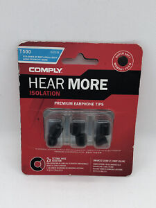 Lot of 2 = 6 Hear More Isolation earphone tips T500 small Headphones Music