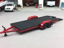 1/64 JOHNNY LIGHTNING RED/BLACK CAR HAULER TRAILER