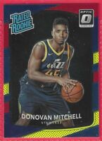 2017-18 Donruss Optic Red Yellow Blue Donovan Mitchell Rated Rookie RC #188