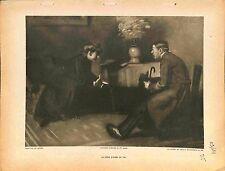 Le frère d'armes du fils veuve de Poilu Soldat Paul de Castro Peintre 1914 WWI