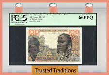 TT PK 201Be 1965 WEST AFRICAN STATES 100 FRANCS PMG 66 GEM NEW NONE FINER!