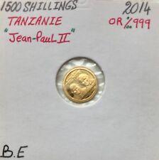 TANZANIE - 1500 SHILLINGS 2014 (JEAN-PAUL II) Plus petite monnaie en Or au mond