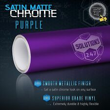 "60"" x 96"" Purple Satin Matte Chrome Metallic Vinyl Wrap Sticker Decal Air Free"