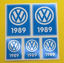 VW 1989 VOLKSWAGEN Year Date stickers INSIDE GLASS BEETLE CAMPER T3 Rabbit