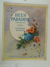 piano solo S CLAUDE RIDLEY bees paradise , 6 pages + covers art