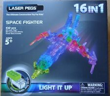 Space Fighter Laser Pegs 16 Models in 1 Lighted Construction Toy Blocks Light up