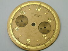 VINTAGE 1940S CHRONOGRAPH SUISSE 34 MM ORIGINAL PRE OWNED DIAL