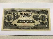 1942 Malaysia WWII Japan Occupation 1 Dollar Ch. Unc. #5141