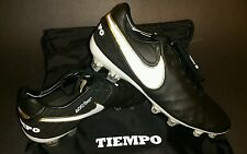 Nike Tiempo Legend VI FG, Black/White/Gold, Size 7.5