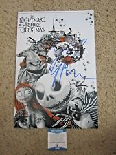 DANNY ELFMAN THE NIGHTMARE BEFORE CHRISTMAS SIGNED 12X18 PHOTO BAS CERTIFIED
