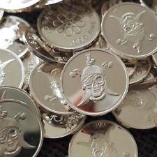 """""""Pirate"""" Design. Lot of 10, 1 gram .999 Fine silver bullion round (Coin). NEW"""