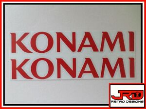 2 x Konami Logo Vinyl Stickers