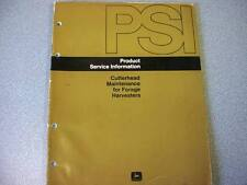 John Deere PSI Manual for Cutterhead Maintenance for Forage Harvesters
