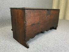 Antique Oak Chest Circa 1600 Oak Six Plank Chest With Moulded Apron Blanket Box