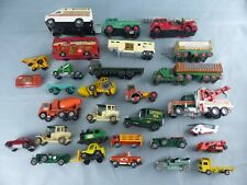 MATCHBOX LESNEY lot de 29 camions voitures remorques miniatures die cast models