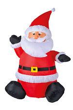 Gebläse Nikolaus 120cm beleuchtet Weihnachtsmann aufblasbar Weihnachten 78519