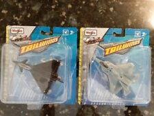 """Eurofighter EF-2000 & F-22 Raptor """"Best of the West"""" Maisto Tailwinds New in Box"""