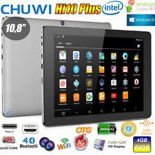 4+64GB CHUWI Hi10 Plus 10.8'' Win10+Android 5.1 QuadCore WIFI Tablet PC 2*Kamera