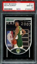 2007 Bowman Kevin Durant PSA 10 #111 Rookie RC