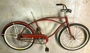 Vintage Pioneer bicycle with fenders, chain guard, nice wheels, missing saddle