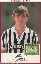 ITALIA MAXIMUM MAXI CARD MAURO MASSIMO HURRà JUVENTUS CALCIO SERIE A 1986 B260
