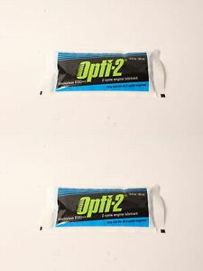 2 PK Opti-2 20056 Universal 2-Cycle Mix Oil 3.2 oz Pouch For ALL 2-Cycle Engines