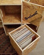"12"" Vinyl LP Record Storage Cube Box Crate Shelf Portable Stackable  osb X4"