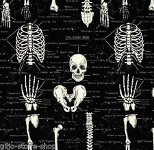 Skeletons Glow Patchwork sostanze morti teste scheletro Decorazione Halloween Gothic ossa