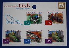 Australia (1995h) 2001 Desert Birds Mnh booklet pane (Hafnia 2001 overprint)