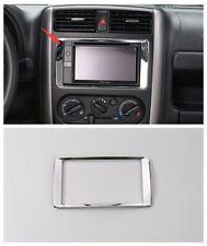 ABS Chrome Car Navigation Cover Frame Trim for Suzuki Jimny 2012-2015 1pcs