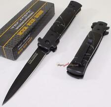 TAC-FORCE Black Pearl Godfather Stiletto Spring Assisted Opening Pocket Knife