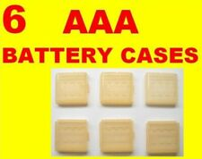 LOT of 6 AAA Battery Cases Holders - Orange Pink Blue