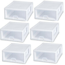 Sterilite 6 Pack 16-Quart Modular Stacking Storage Drawer Containers (Open Box)