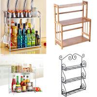 Spice Rack Kitchen Organizer Storage Shelf Cabinet Holder Jar Rack