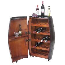 Étagère à vin HWC-T877, tonneau avec porte 85x52x52cm, 23 bouteilles