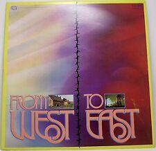 "FROM WEST TO EAST Album Vinyl LP 12"" 33rpm Excellent"