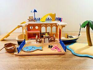 Sylvanian Families Seaside Cruiser House Boat Play Set Island Pool Slide